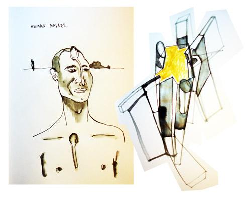 human magnet dibujo